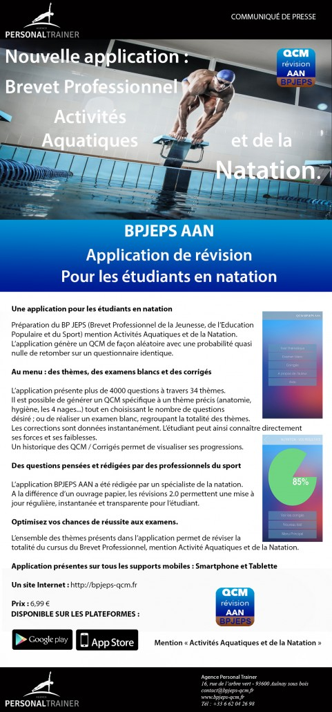 Communique de presse BPJEPS AAN