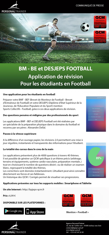 Communiqué de presse BEF - BM - DEJEPS FOOTBALL
